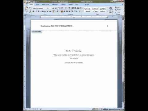 cover page mla format example