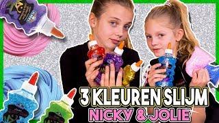 3 KLEUREN SLIJM CHALLENGE met JOLIE & NICKY + GIVEAWAY