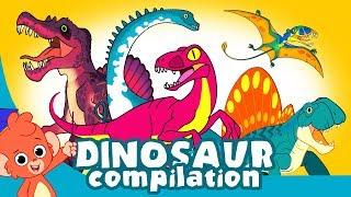 Learn Dinosaurs for Kids | Scary Dinosaur movie Compilation | Tyrannosaurus Velociraptor