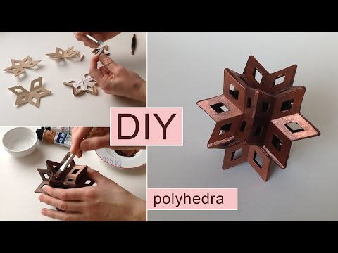 How to make a paperboard star - geometric shape 3d DIY