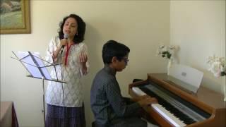 Anondoloke Mongolaloke Rabindra Sangeet by Atreyee, piano by Rohit