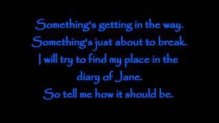Diary of Jane- Breaking Benjamin Lyrics