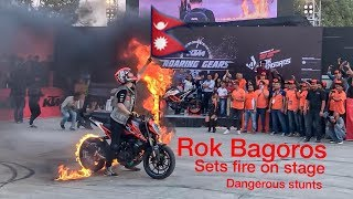 Rok Bagoros stunts in Nepal || The KTM Bike vlog || viral stunts