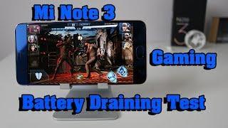 Xiaomi Mi Note 3 International Version Gaming & Battery Draining Test