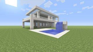 Minecraft mooie huizen met zwembad videodownload for Huis maken minecraft