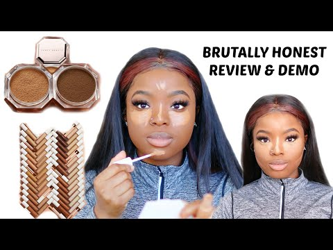 FULL FACE USING FENTY BEAUTY INSTANT RETOUCH CONCEALERS & SETTING POWDER HONEST REVIEW I'M SHOOK