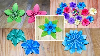 Top 5 DIY Paper Flowers | Easy Crafts Ideas | Paper Crafts