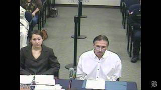 Exclusive video from Cinelli's parole board hearing