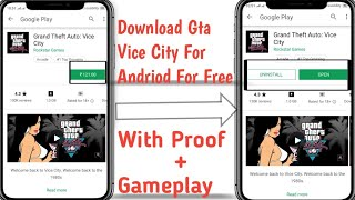 Download gta vice city for free in android mobile Full Process+Gameplay Proof[New Link] #thosegaming