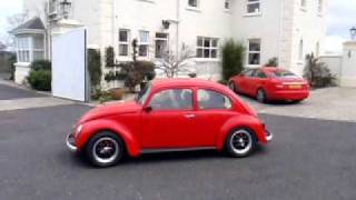 Best VW beetle 1300 air-cooled Engine sound (1973 model with pre '67 front wings)