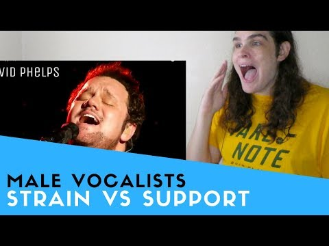 Voice Teacher Reacts to Strain VS Support | AmericanWestern Male Vocalists