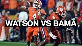 Clemson QB Deshaun Watson National Title Game Highlights