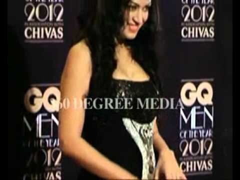 Hot sexy Maryam Zakaria in a low cut cleavage showing dress at GQ Men of the Year Award 2012