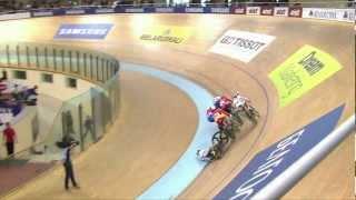 Woman's Keirin final, Vogel Crash - 2013 UCI World Track Championships