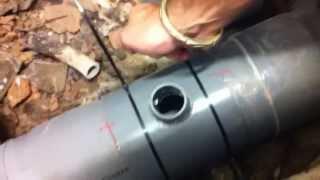 Colocación de ingertos en tuberia de PVC !