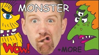 Monster Stories for Kids + MORE | Monster Song for Children | Steve and Maggie | Wow English