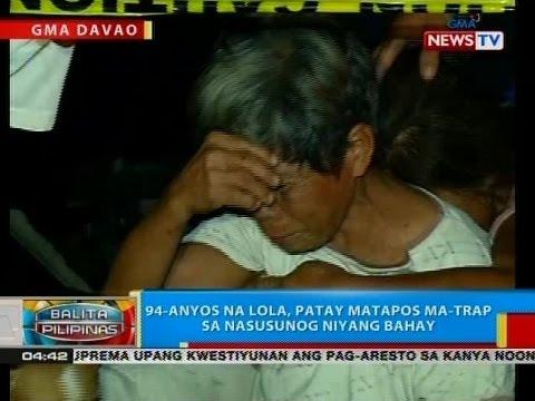 BP: 94-anyos na lola, patay matapos ma-trap sa nasusunog niyang bahay