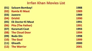 Irrfan Khan Movies List
