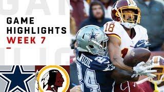 Cowboys vs. Redskins Week 7 Highlights | NFL 2018