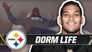 James Conner, T.J. Watt & more give MTV Cribs tour around dorms   Pittsburgh Steelers Training Camp
