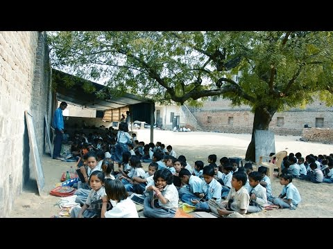 Indian Village School in worst condition.Schools in Rajasthan.Villagers kids India.rural education
