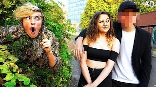 SPYING on my GIRLFRIEND for 24 HOURS!! **Caught her Cheating**