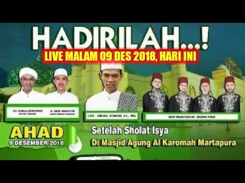 Xxx Mp4 LIVE MALAM 9 DESEMBER 2018 Ustadz Abdul Somad DI MASJID AGUNG AL KAROMAH MARTAPURA BANJAR KALSEL 3gp Sex