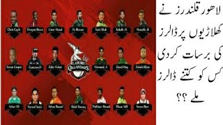 Lahore Qalandar players Salary for Pakistan Super League 2018 | Lahore Qalandar Squad For PSL 2018