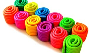 Learn Colours with Playdough Rolls modelling clay for kids I