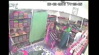 OMG.. Indian Women Stealing BULK of Sarees at Silk Sarees Store