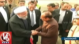 Iran President Hassan Rouhani Arrives in Hyderabad On Three-day Visit   V6 News