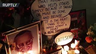 Fans pay tribute at Stan Lee