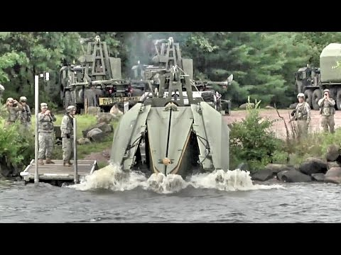watch Army Engineers Build Floating Bridge – Multi-Role Bridge Company