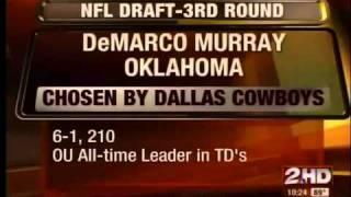 DeMarco Murray Drafted By Dallas Cowboys