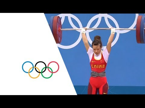 China s Wang Mingjuan Wins Weightlifting 48kg Gold London 2012 Olympics