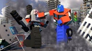 Minecraft   Good vs Evil - TRANSFORMERS BASE DEFENSE! (Optimus vs Megatron)