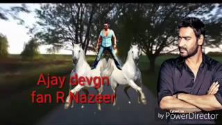 Bollywood TIGER only one man super star Ajay Devgn fan R Nazeer bangalore