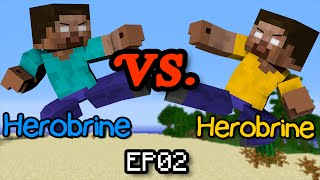 Herobrine vs Herobrine - Minecraft Part 2