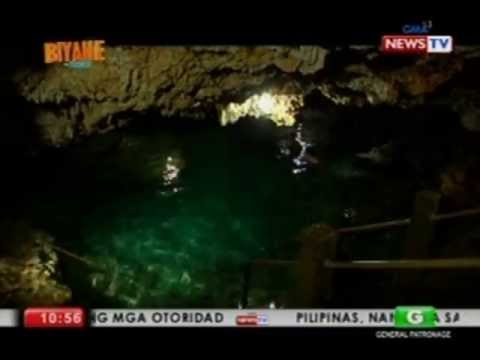 Luane Dy swims in the Enchanted Cave of Pangasinan