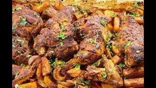 دجاج مشوي بالفرن بتتبلة خاصة وصفة مميزة والطعم ولا اروع مع رباح محمد ( الحلقة 449 )