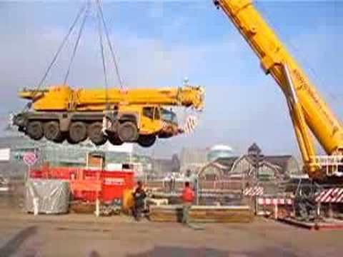 500t hebt 160t auf Ponton Crane carries crane Kranmobile Teil 1 Soeren66