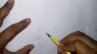 رسم ارنب يجري بقلم رصاص بكل سهولة