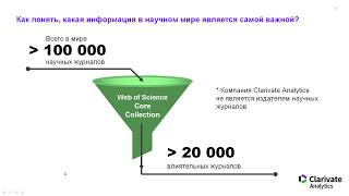 Семинар по работе с инструментами наукометрической платформы Web of Science