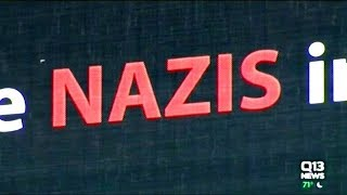 """Billboard """"THERE ARE NAZIS IN OUR NEIGHBORHOOD"""""""