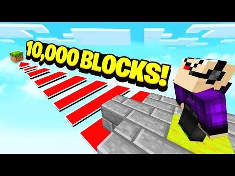 WORLDS LONGEST MINECRAFT JUMP 10 000 BLOCKS