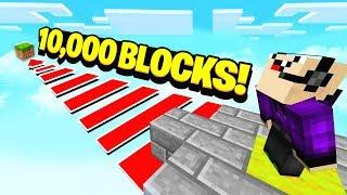 WORLDS LONGEST MINECRAFT JUMP! (10,000 BLOCKS)