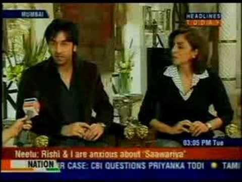 Ranbir and Neetu Kapoor on AAJ TAK