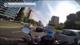 Warsaw Motor Ambulance: Driver seen rushing along busy streets