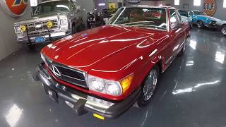 1987 Mercedes 560SL - Signal Red/Palomino Tan, 78,765 Miles, Both Tops - Seven Hills Motrocars