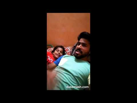 Funny Tamil dubsmash, father and daughter
